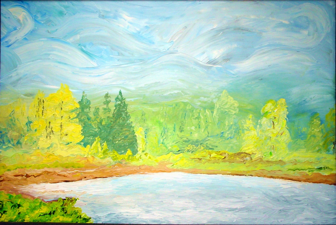 Lost Lake, 24 x 36 inches, $1000.00