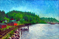 Astoria, 18 x 28 inches, SOLD