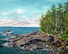 Boiler Bay, 16 x 20 inches, SOLD