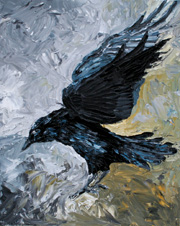 Crow, 20 x 16 inches, SOLD