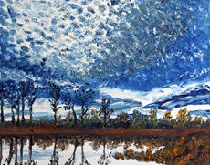 Eagle Marsh brush, 16 x 20 inches, SOLD