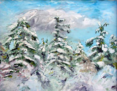 Mary's Peak, 16 x 20 inches, SOLD