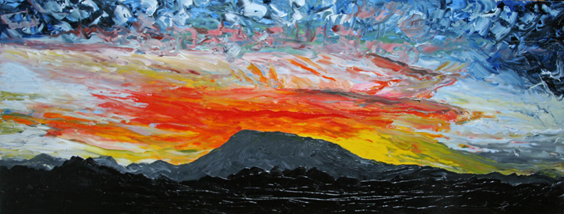 Marys Peak Sunset, 24 x 48 inches, SOLD
