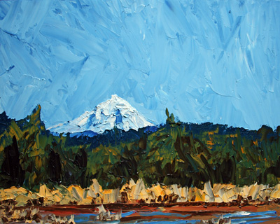 Mt Jeff, 16 x 20 inches, $270.00