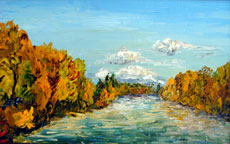 Willamette Autumn 2, 15 x 24 inches, SOLD